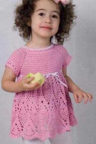 Вязаное платье для девочки с описанием