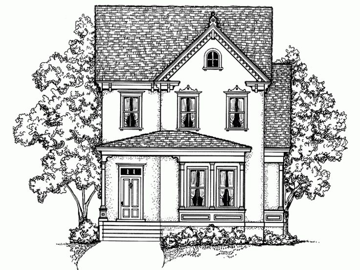 Queen Anne Style 2 Story 4 Bedrooms S House Plan With