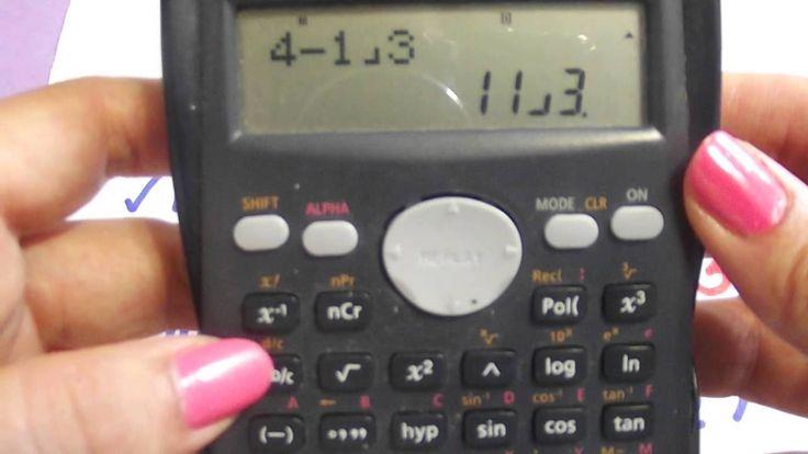 Uso de la calculadora científica: Fracciones
