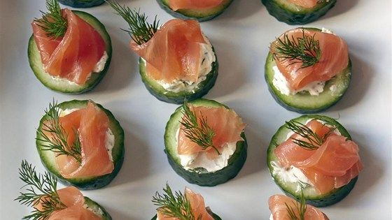 Quick and easy to make and beautiful to look at, cucumber cups with dill cream and smoked salmon are a classic flavor combination.