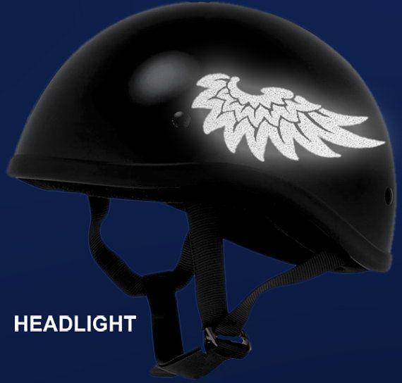 Hyper Reflective Wings Decal / Tribal Wings Helmet Sticker / Angel Wings Sticker Set / Reflective Wings Helmet Decal #821R