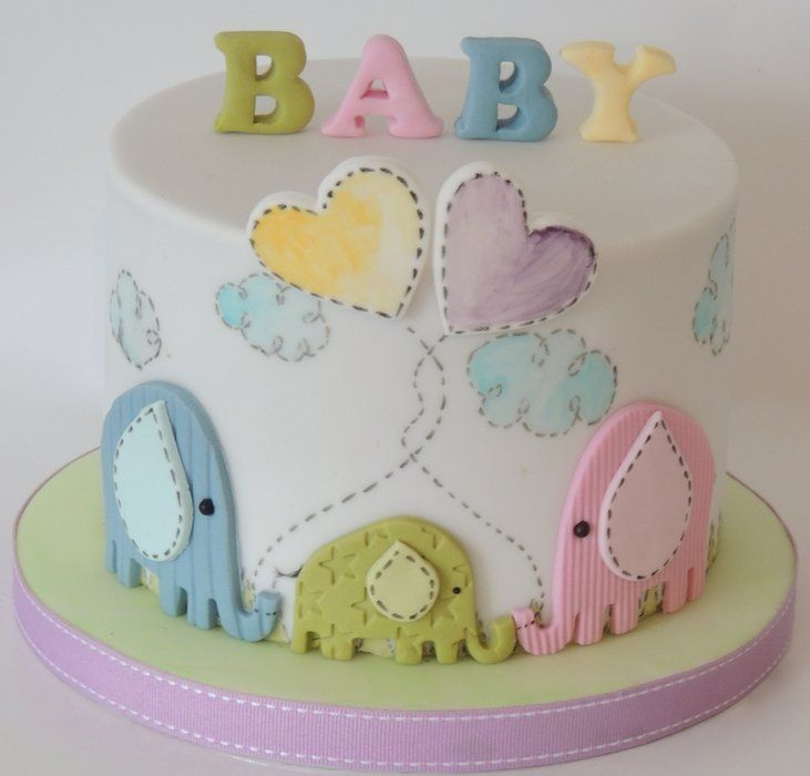 Easy Cake Decorating Baby Shower : Elephant Baby Shower - by ShereensCakes @ CakesDecor.com ...