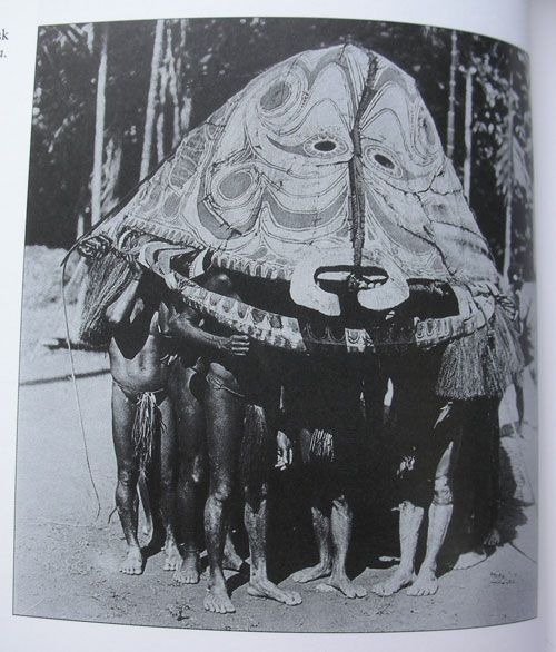 Giant mask from Papua New Guinea