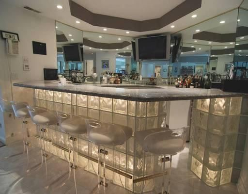 Custom Built Glass Block Bar