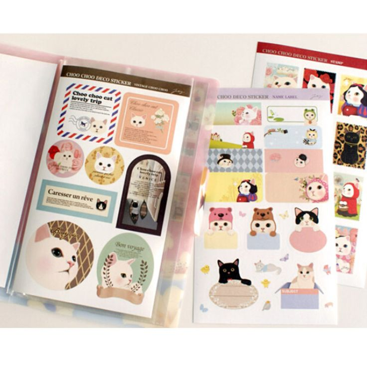 Goedkope 8 vellen/set leuke kat papier sticker diy scrapbooking dagboek sticker post het kawaii briefpapier schoolbenodigdheden, koop Kwaliteit memoblokken rechtstreeks van Leveranciers van China: 6 pcs/lot sweet lace paper stickers decoration decal sticker diy scrapbooking sealing sticker post it kawaii stationeryU