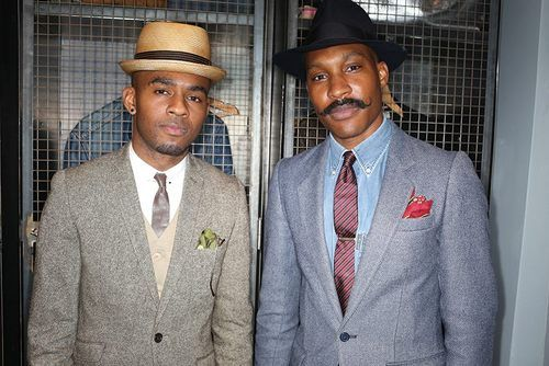 Dapper Dudes @mrflyycampbell and @shaungordon at our Pinterest UK men's styling event – as snapped by @garconjon