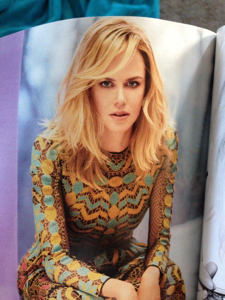 Nicole Kidman hair March 2014 InStyle