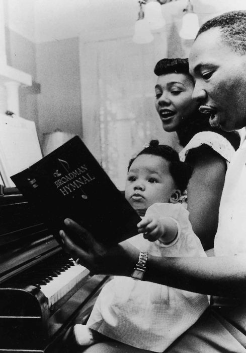 Dr Martin Luther King with wife Coretta Scott King