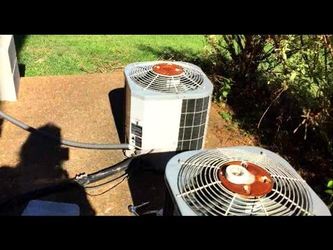 how to change a capacitor in carrier hvac centeral air conditioner unit