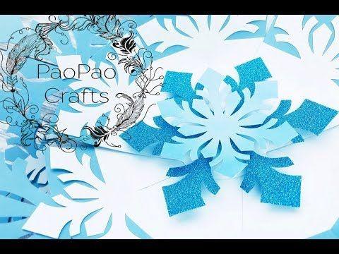 FLOR COPO DE NIEVE   COPO DE NIEVE GIGANTE   MOLDES GRATIS   SNOWFLAKE FLOWER - YouTube