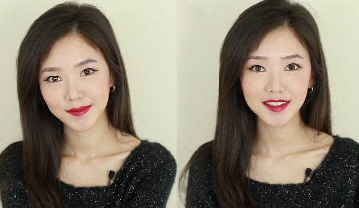 Bright RED Lips Makeup Tutorial 빨간 입술 메이크업 - YouTube