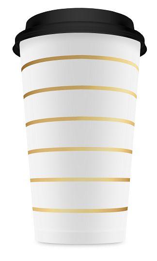 Kaffemuggar 10-pack guldrandiga