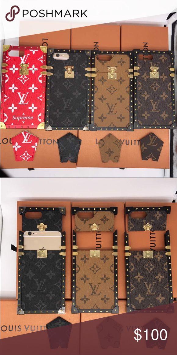 Lv Designer Cases IPhone Only Dark Brown Black Supreme Light Brown Accessories Phone Cases