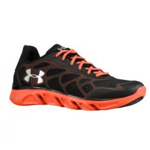 black and orange under armour shoes