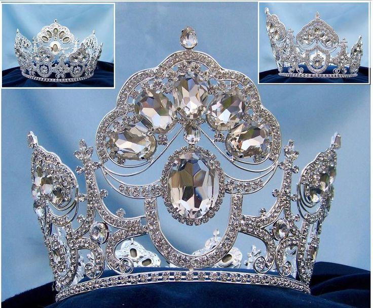 Beauty Pageant Queen Princess Bridal rhinestone crown tiara The Charlotte Amalie