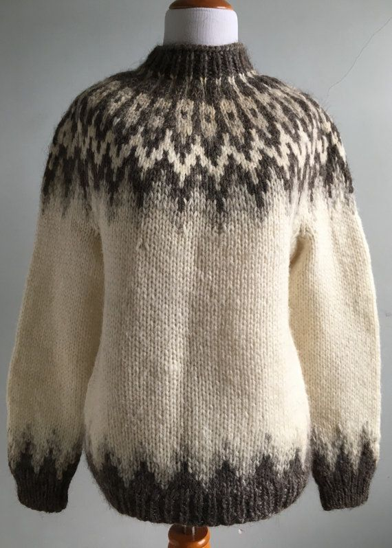Vintage Icelandic Knit Sweater by KnitWitVintage on Etsy