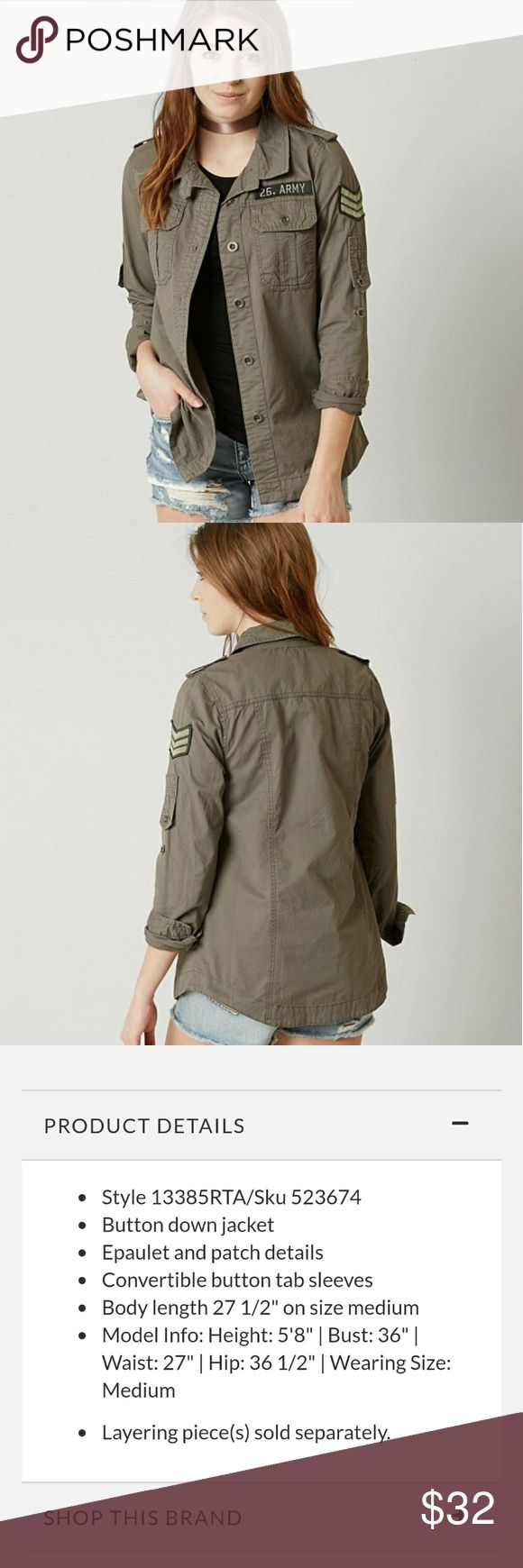 Canvas Utility Jacket Women's large. New condition. Cute army look. Jackets & Coats Utility Jackets