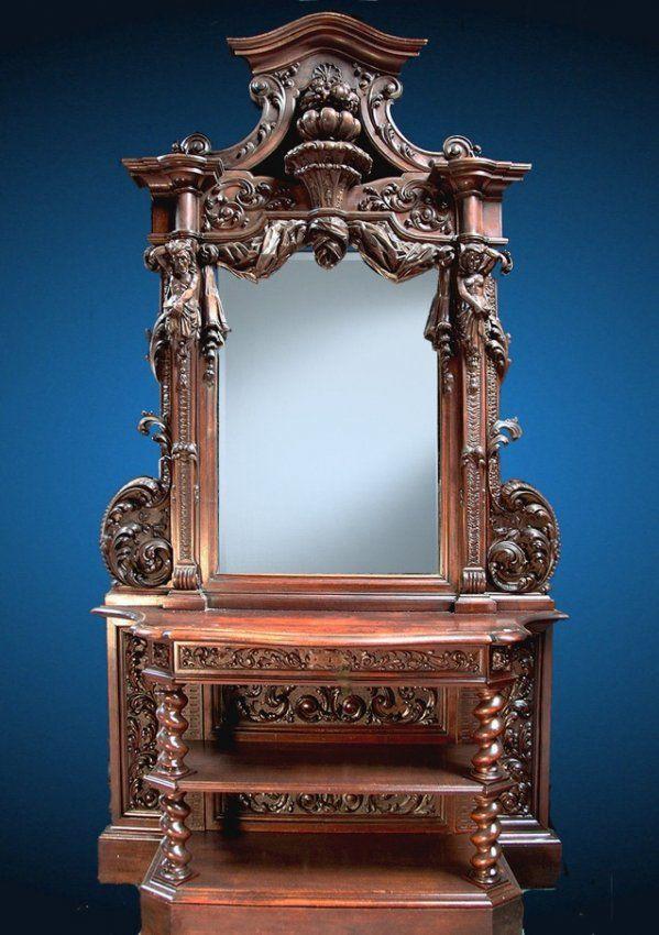 19th Century Walnut Venitian Renaissance Cabinet : Lot 201