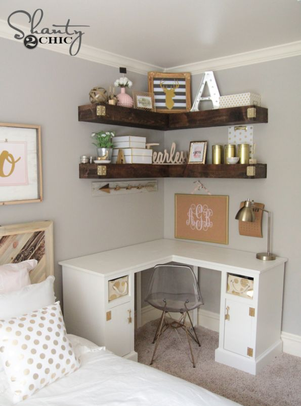 Bedroom Ideas: DIY Cheap and Simple Floating Shelves - LOVE this idea! DIY  Floating