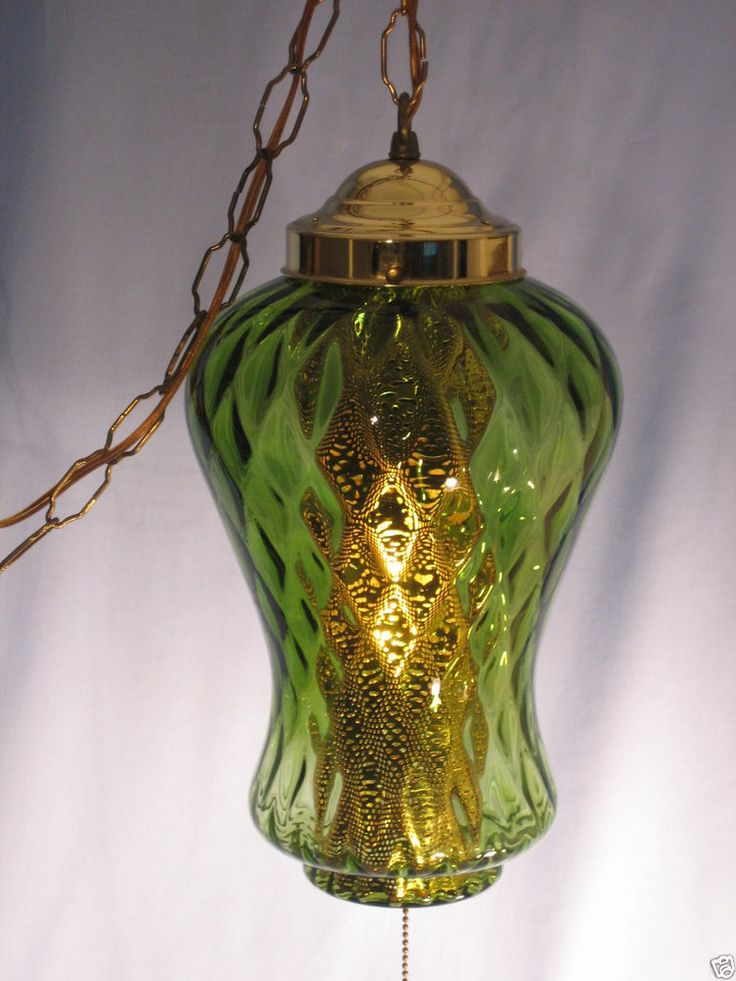 1960s Vintage Retro Mid Century Swag or Hanging Lamp Light