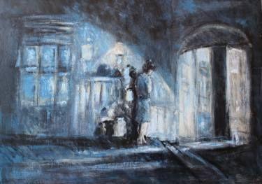 "Saatchi Art Artist simone Butturini; Painting, ""During the filmmaking ""Roman holiday"""" #art"