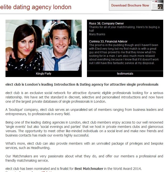 Dating Agencies In London In spite of Professionals