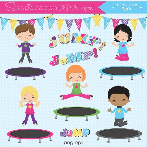 Trampoline Party Clipart