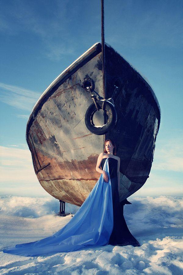 The flying ship (Летучий корабль) by Yelena Rosenthal, via 500px