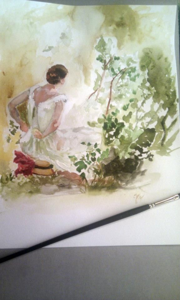 Anders zorn tryout, watercolors , a4.