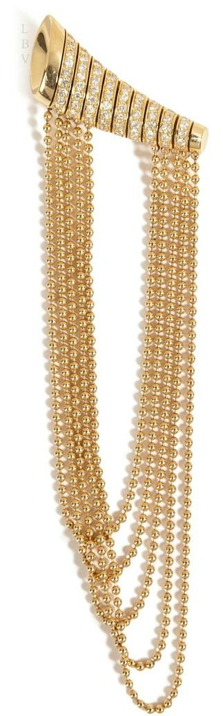 NIKOS KOULIS 18kt Yellow Gold Star Earrings with White Diamonds | LBV ♥✤