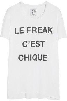 Zoe Karssen Le Freak C'est Chique cotton and modal-blend T-shirt | NET-A-PORTER