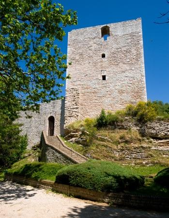 The Rocca Albronoz fortress in Sassoferrato - Marche - Italy