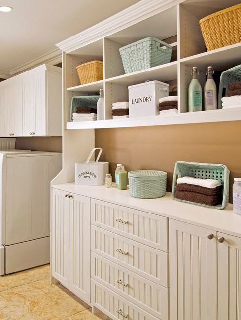 laundry room organization idea.. Otherwise this room will become a 'catch-all'-- READ THIS!!!