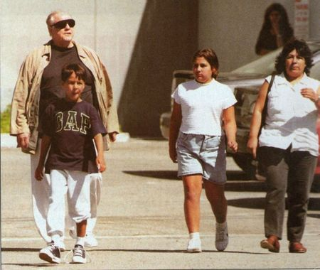 Marlon Brando and Christina with their children Miles and Ninna Priscilla.