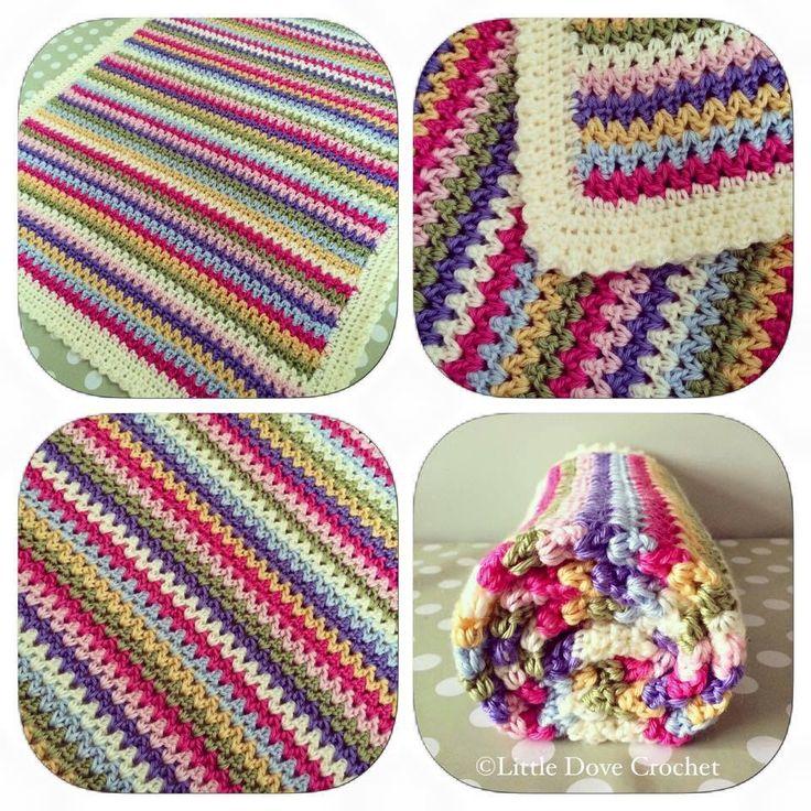 V Stitch Blanket Little Dove Crochet Pinterest