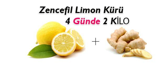 Zencefil Ve Limon Detoks Kürü İle 4 Günde 2 Kilo