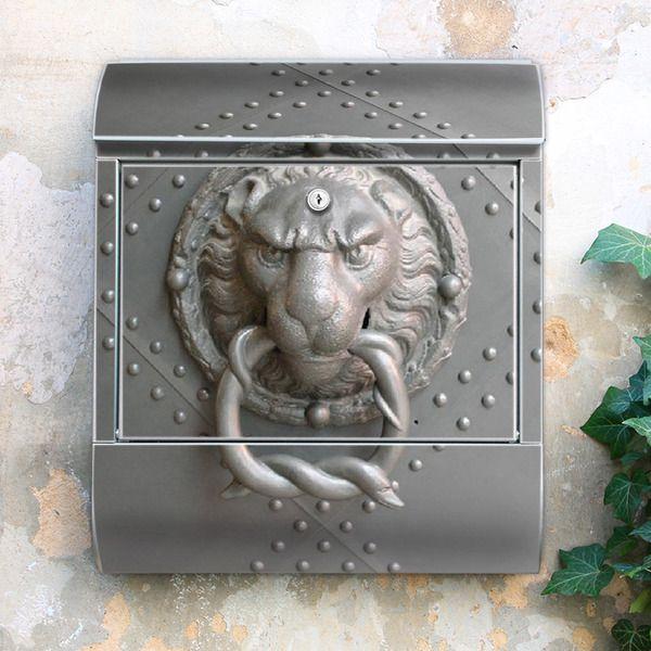 Eleganter Briefkasten mit Motiv Eisentor von banjado via dawanda.com