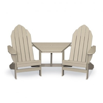 ... Contoured Seat Curved Back For Comfort Extra Wide Arms With Or Without  An Umbrella Hole Two Deluxe Adirondack Chairs With Subtle Curve To The Back  And ...
