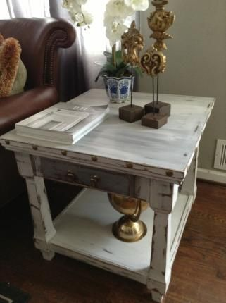 Superb Rustic End Table