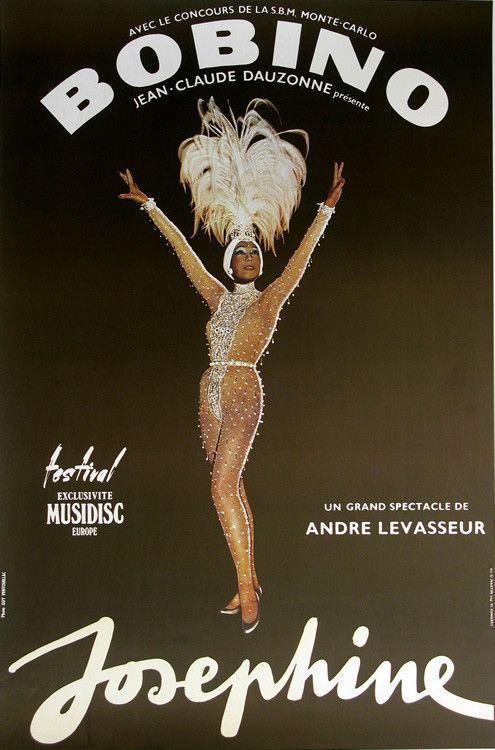 Bobino Authentic Vintage Poster by Guy Ventouillac Qualifies for free shipping! Josephine Baker is a famous entertainer and African America trailblazer who gained fame performing in the Parisian night