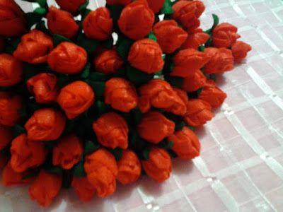 Mini Rosas Vermelhas - Encomenda Gislaine - Ideias de onde usá-las