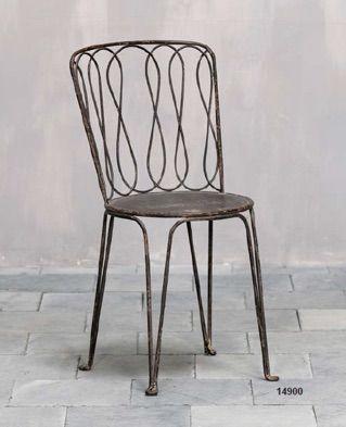 Sedia in ferro - iron chair  http://www.griffegenova.com/Griffe_Home/Divani_pint_new.html
