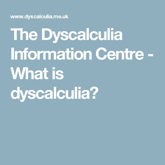 The Dyscalculia Information Centre - What is dyscalculia?