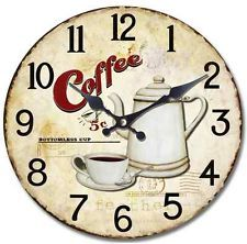 Wall Clock 13.5 Inch Rooster Country Or Coffee Theme Kitchen Home Decor New