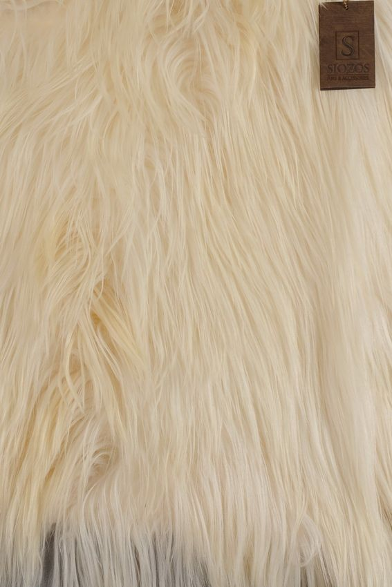 Panel of Goat Long Hair Natural. Size 120 x 60 cm.