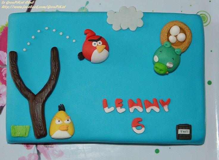 Gâteau Angry Birds / Angry birds cake