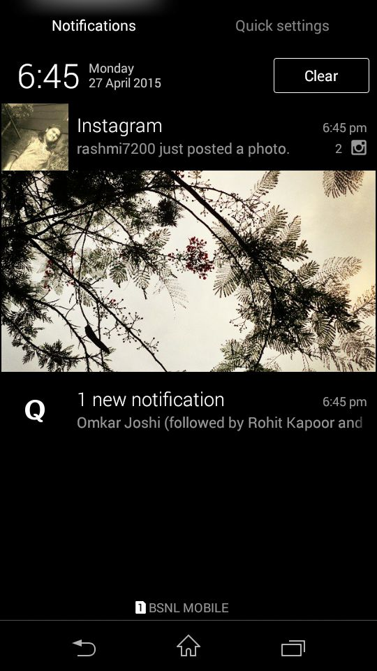 Xperia™ M2 Notification Panel KitKat 4.4.4 UI (Personally, I liked the design of this Interface than the one adopted by Sony from Lollipop Update.)