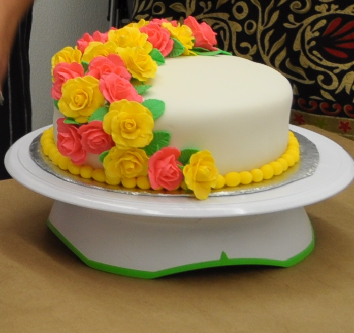 Front View of the Cake