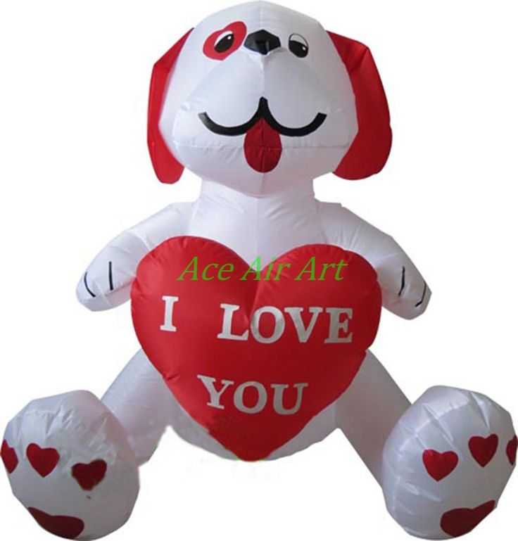 teddy bear valentines day inflatable for decoration inflatable valentine bears with red heart in hand - Valentine Day Bears