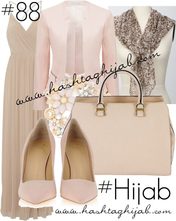 Hashtag Hijab Outfit #88 van hashtaghijab met heels & pumpsJane Norman cocktail gown€69 - janenorman.co.ukForever New collarless blazer€54 - forevernew.com.auGiuseppe Zanotti heels & pumps€510 - giuseppezanottidesign.comVictoria Beckham beige pursemontaignemarket.comSparkly statement necklace€17 - icing.comDesign of Love hijab scarvehijablouvre.com